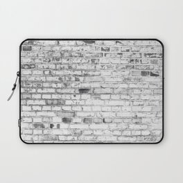 Withe brick wall Laptop Sleeve