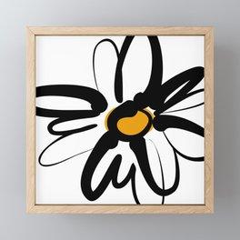 Doodle Daisy Framed Mini Art Print
