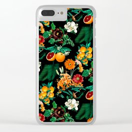 Fruit and Floral Pattern Clear iPhone Case