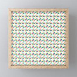 Large Pastel Love Hearts Framed Mini Art Print