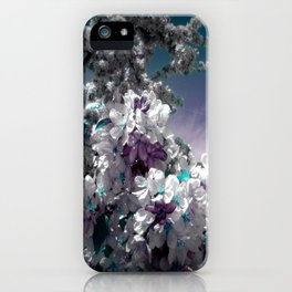 Flowers Purple & Teal iPhone Case