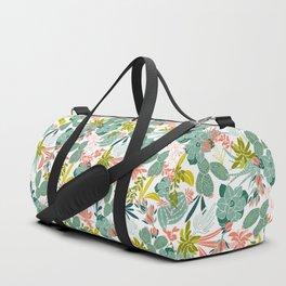 Succulent Garden White Duffle Bag