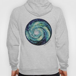 Spiral Galaxy with Seed of Life Hoody