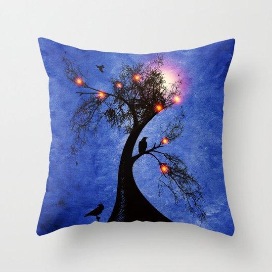Raven christmas II - HOLIDAZE Throw Pillow