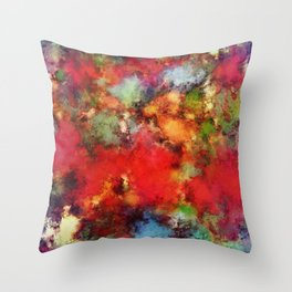A red road Throw Pillow