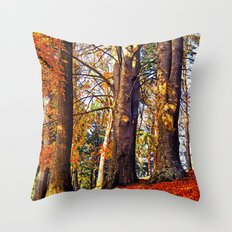 Autumn troika Throw Pillow