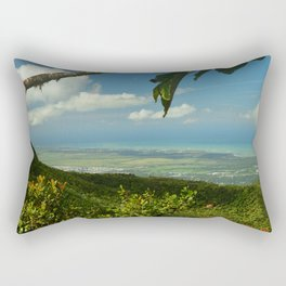View of the Puerto Rico East Coast - from El Yunque rainforest Rectangular Pillow