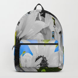 Stripped of color sunflowers Backpack