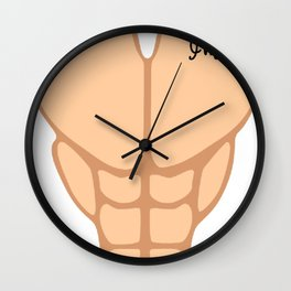 Six Pack I'm 48th Birthday Funny Men Wall Clock