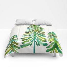 Pine Trees – Green Palette Comforters
