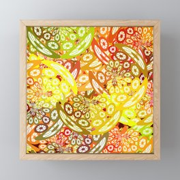 Fruity geometric abstract Framed Mini Art Print