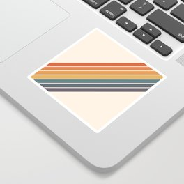 Arida -  70s Summer Style Retro Stripes Sticker