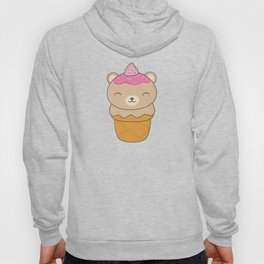 Kawaii Bear Ice Cream Cone Hoody