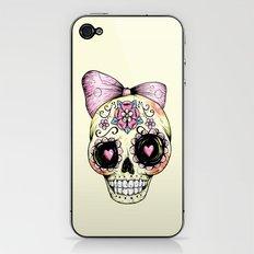 Sugar Skull (Yellow) iPhone & iPod Skin