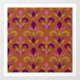 Ikat in Burnt Orange Art Print