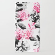 Rose Garden in Pink and Gray iPhone 7 Plus Slim Case