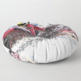 MotoGP  abstract art rider motorcycle racing Floor Pillow