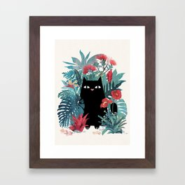 Popoki Framed Art Print
