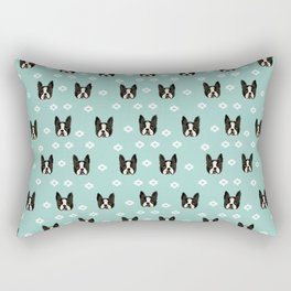 Boston Terrier head cute pet pattern dog breed gifts boston terrier lovers Rectangular Pillow