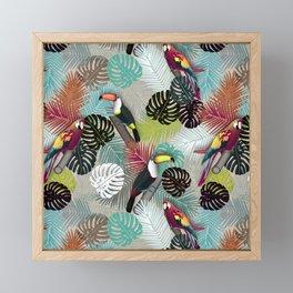 Tropical Birds (Color 2 - Bold) Framed Mini Art Print