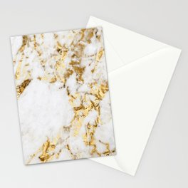 Luxe bright golden Stationery Cards