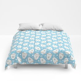 Snowing Marshmallows Comforters