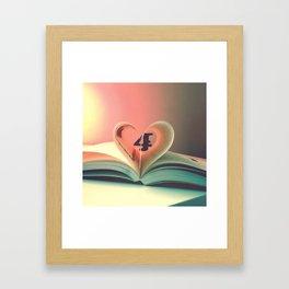 Book of hearts Framed Art Print