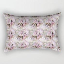 Misty Pink Roses Rectangular Pillow