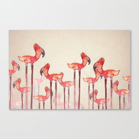 Transmogrified Flamingo Colony Canvas Print