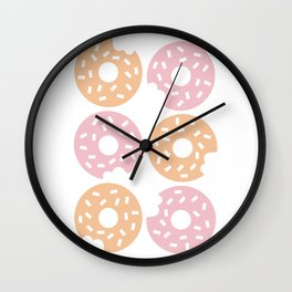 Six Sprinkled Donuts Wall Clock