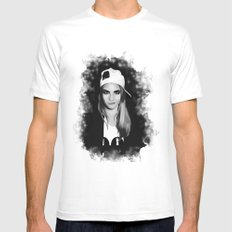 Cara Delevingne Mens Fitted Tee White MEDIUM