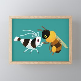 Bee & bee shrimp Framed Mini Art Print