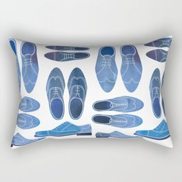 Blue Brogue Shoes Rectangular Pillow