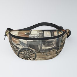 Vintage Horse Drawn Carriage Fanny Pack