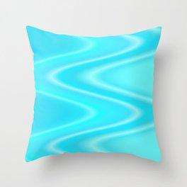 turquoise waves Throw Pillow