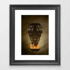 Burning senses on paranoia Framed Art Print