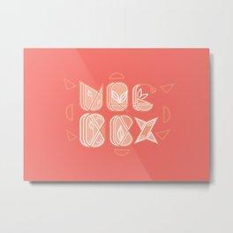 Alphabets Metal Print