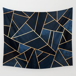 Navy Stone Wall Tapestry