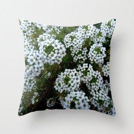 white flower 12 Throw Pillow