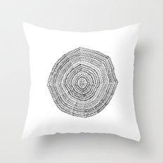 Vacancy Zine Mandala I B&W Throw Pillow
