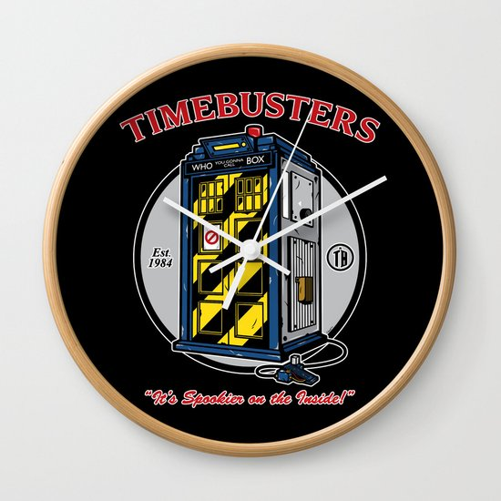 Timebusters Wall Clock