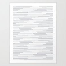 White Estival Mirage Art Print