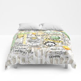 Brainiac by John Logan Comforters