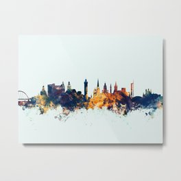 Glasgow Scotland Skyline Metal Print
