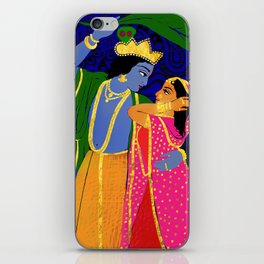 Radha & Krsna Colorful Illustration  iPhone Skin