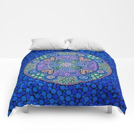 TIME OF NOW MANDALA Comforters