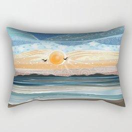 Playa El Agua - Siete Maravillas de Venezuela Rectangular Pillow