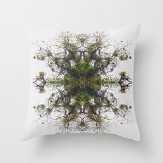 Epiphyte Kaleidoscope Throw Pillow