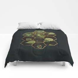 Bees in Space Comforters