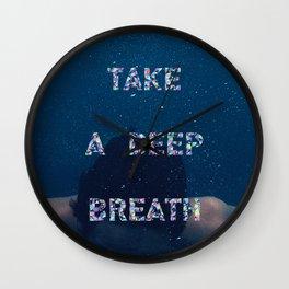 Deep breath Wall Clock
